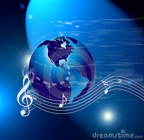 Internet Music World Notes Royalty Free Stock Photos