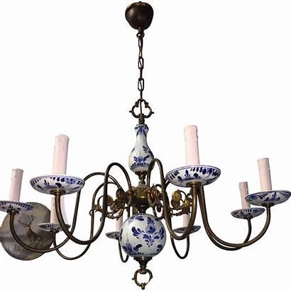 Porcelain Delft Brass Chandelier Els Collectibles Sold