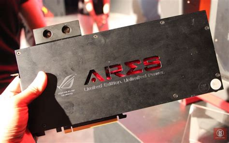 computex 2014 on with asus rog ares iii graphics card featuring dual amd hawaii xt gpu