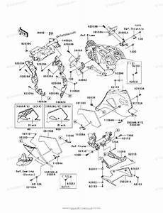 Kawasaki Motorcycle 2012 Oem Parts Diagram For Cowling