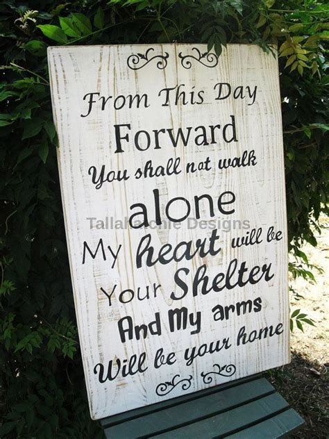Wedding Sign From This Day Forward Wood By