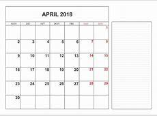Kalender April 2018 – Unduh kalender bulanan gratis 2019