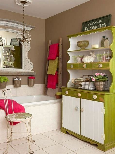 vintage bathroom storage ideas the best color combinations for your bathroom home decor ideas