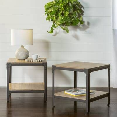 The base features a coffee table set bottom shelf, allowing you to store away your favorite décor or coffee table books. Indira Abstract Gray/Light Blue/Navy Blue Area Rug   Coffee table, Furniture, End tables