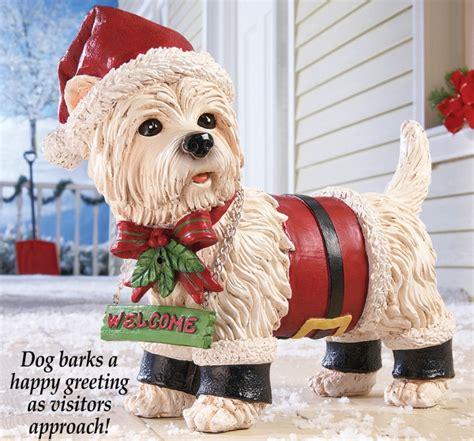 holiday motion sensor santa dog christmas
