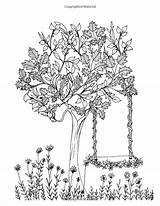 Coloring Elm Pages Adult Colorir Garden Arvores Coloriage Secret Mandala Template Erwachsene Para Malvorlagen Gemerkt Von sketch template