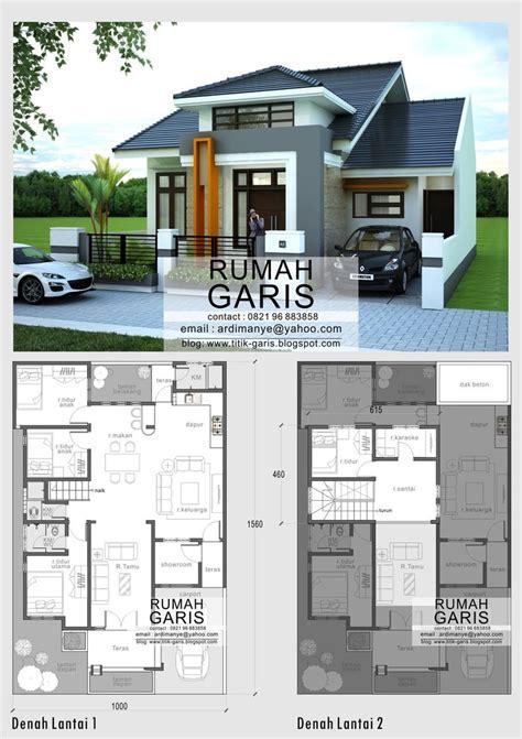 desain model denah  tampak rumah minimalis  lantai
