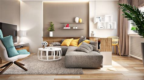 modern living room natural colors   interior living
