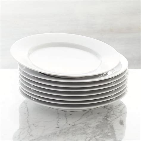Set of 8 Aspen Dinner Plates + Reviews   Crate and Barrel