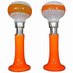mazzega white orange bubble glass floor lamps for sale at With glass orange floor lamp
