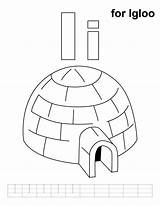 Igloo Coloring Printable Pages Alphabet Letter Letters Preschool Practice Colouring Handwriting Learning Activities Sheets Ice Kindergarten Teaching Drawing Cartoon Eskimos sketch template