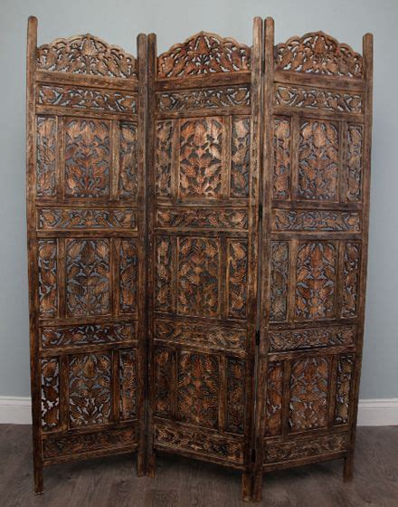 this stunning wood carved panel wall divider from morocco inspiration from