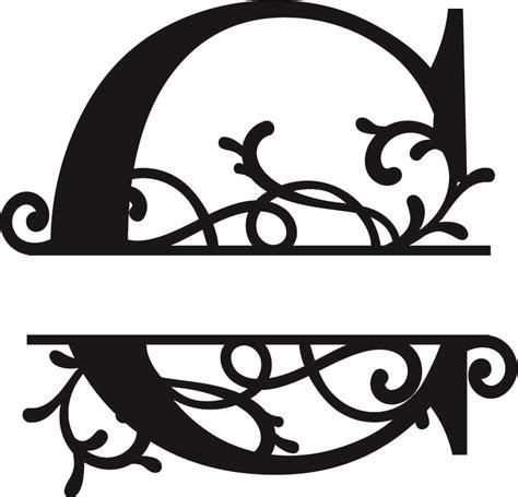 flourished split monogram  letter eps  vector