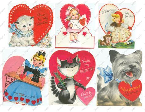 Vintage Valentines Day Cards Digital Download Collage ...