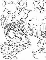 Coloring Pages Muffin Waffle Meadows Waffles Activity sketch template