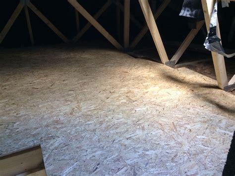 osb platten verlegen dachboden dachboden ausbauen und mit osb platten begehbar machen