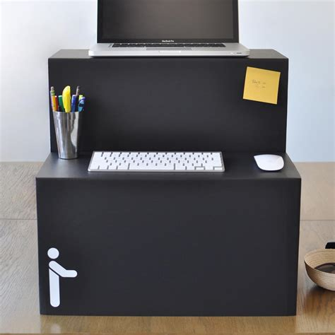 where can i buy a standing desk flat packed standing desk is made entirely out of cardboard