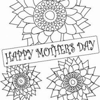 Mothers Coloring Mother Cards Printables Craft Mothersday