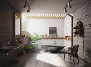 salle de bain luxe avec baignoire design en 36 belles images With idee salle de bain zen