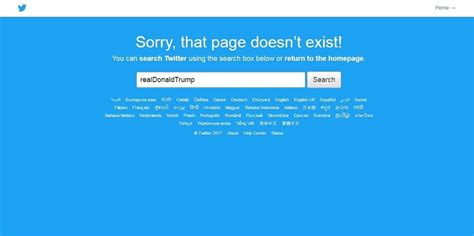 account trump temporarily goes down republicanmatters beloved disappeared donald minutes president few why