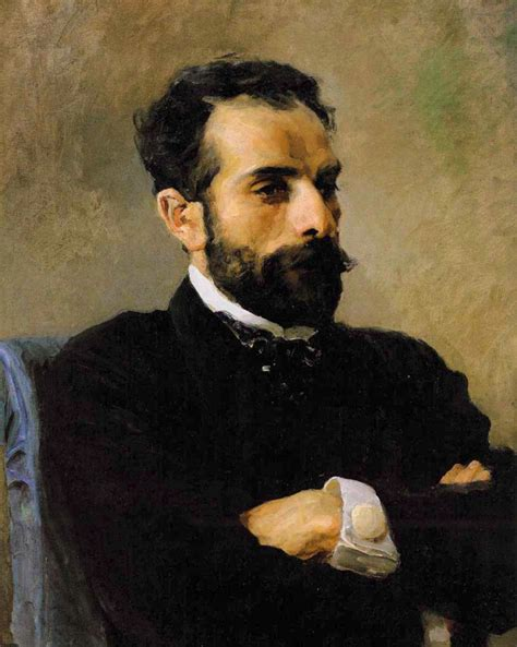 Portrait of Isaak Levitan Painting   Vasily Polenov Oil ...