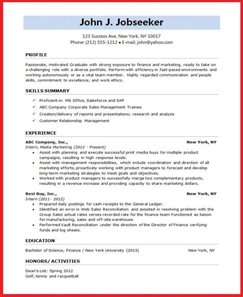 resume format for student creative resume design