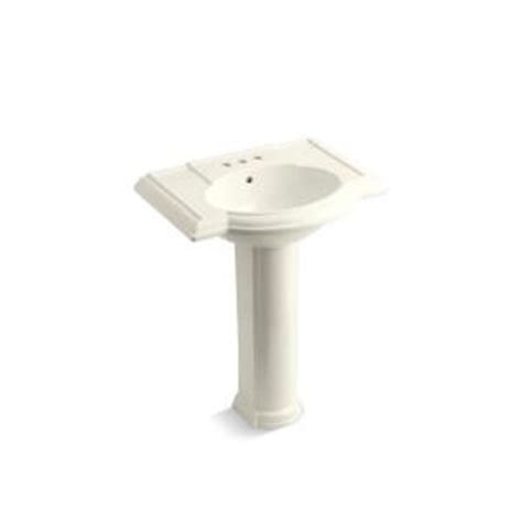 Kohler Devonshire Pedestal Sink Home Depot by Kohler Devonshire Pedestal Combo Bathroom Sink In Biscuit