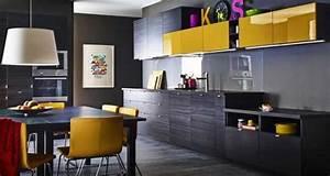 Modeles Cuisine Ikea : cuisine noire les mod les top d co chic ikea deco cool ~ Dallasstarsshop.com Idées de Décoration