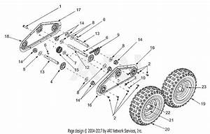 Mtd 31ad4m3f190 Snow Boss 855 4x4  2001  Parts Diagram For