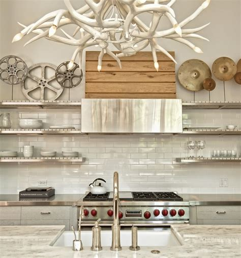 add sleek shine to your add sleek shine to your kitchen with stainless steel shelves