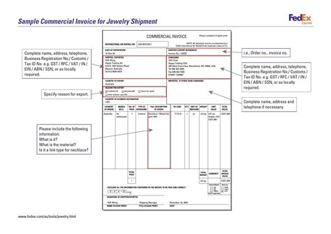 Sle Invoice Template Sle Invoice With No Commercial Value Invoice Value Free