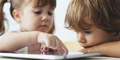Using Learn Ipads Smartphones Shoes Toddlers Before
