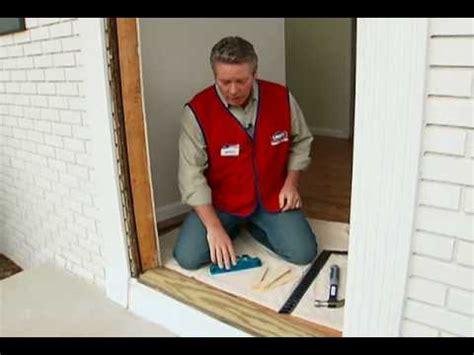 install  pre hung exterior door youtube