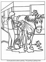 Horse Coloring Pages Farm Horses Paarden Kleurplaat Kleurplaten Paard Theme Barn Animated Camp Ranch Preschool Worksheets Riding Van Pony Bathing sketch template