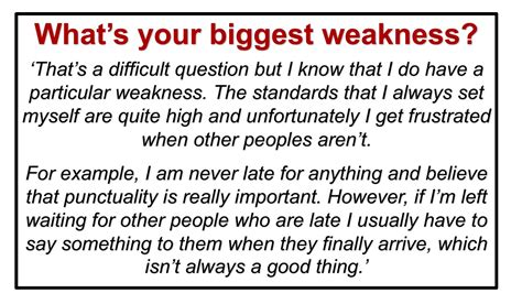 Question What Is Your Weakness Exles by What S Your Weakness Question
