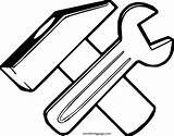 Hammer Coloring Carpenter Spanner Wecoloringpage sketch template
