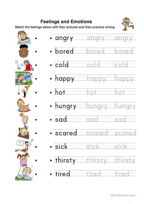 emotion worksheet  esl printable worksheets