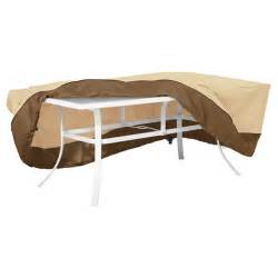 veranda large rectangular oval patio table cover light
