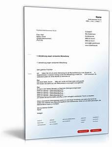 Haus Kündigung Schreiben : abmahnung wegen mietr ckstand muster zum download ~ Lizthompson.info Haus und Dekorationen