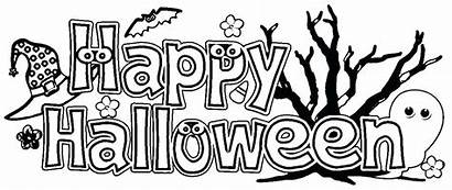 Halloween Coloring Happy Pages Banners Banner Printable