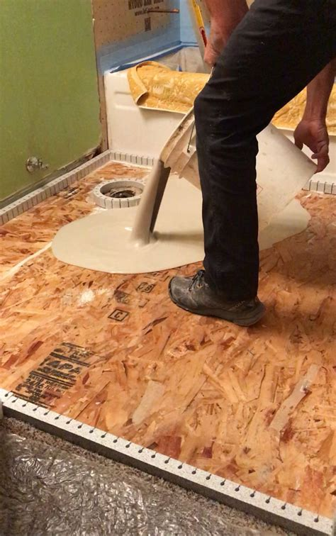 We built stairs, backfilled, insulated. How to prep a wood subfloor for self leveling concrete ...