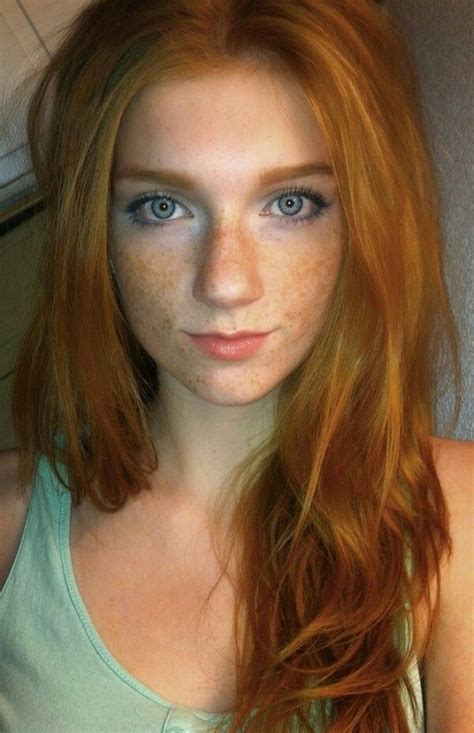 Redhead Beauty Redheads Freckles Red Hair Woman