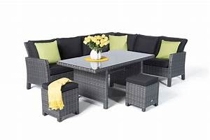 Rattan Lounge Grau : rattan tisch lounge dining kamerun mix grau ~ Watch28wear.com Haus und Dekorationen