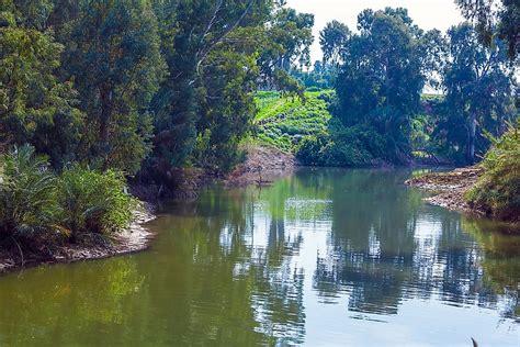major rivers  israel worldatlascom