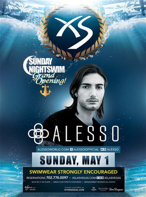 Xs Nightswim Dress Code Alesso Sunday Nightswim At Xs Nightclub On Sunday May 1