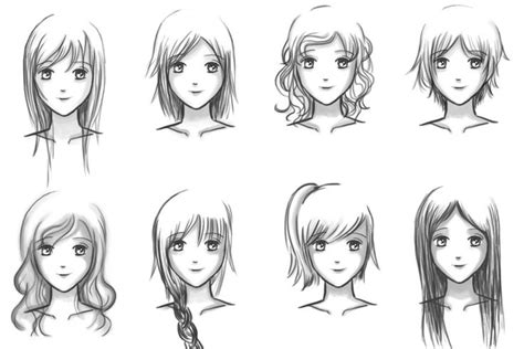 anime girl hairstyles  pixiedust  deviantart drawing