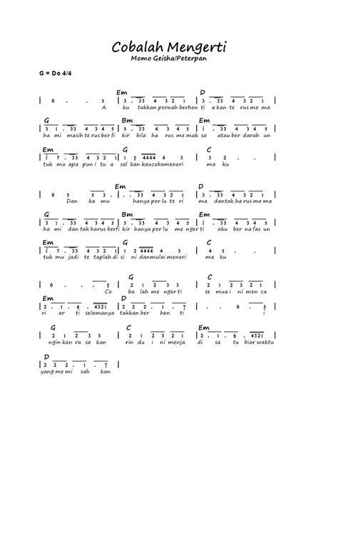 not lagu maudy ayunda kumpulan not angka february 2013