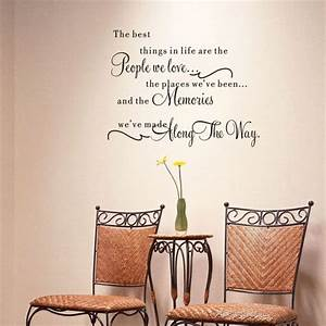 the best things in life vinyl wall decals love memories With wall decals for home