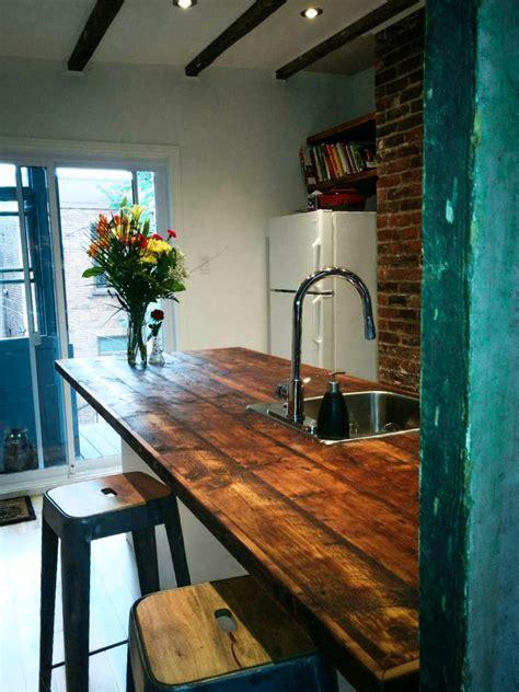 comptoir bois cuisine comptoir en bois de grange déco cuisine