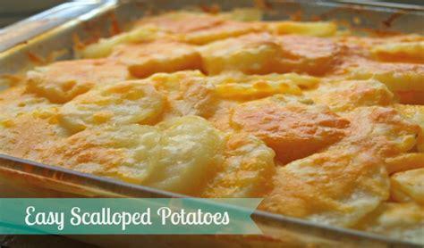 easy potato recipes easy scalloped potatoes recipe yummymummyclub ca